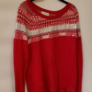 4/$25 Liz Claiborne Red Sweater L